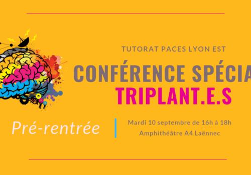 Conférence spéciale triplant.e.s