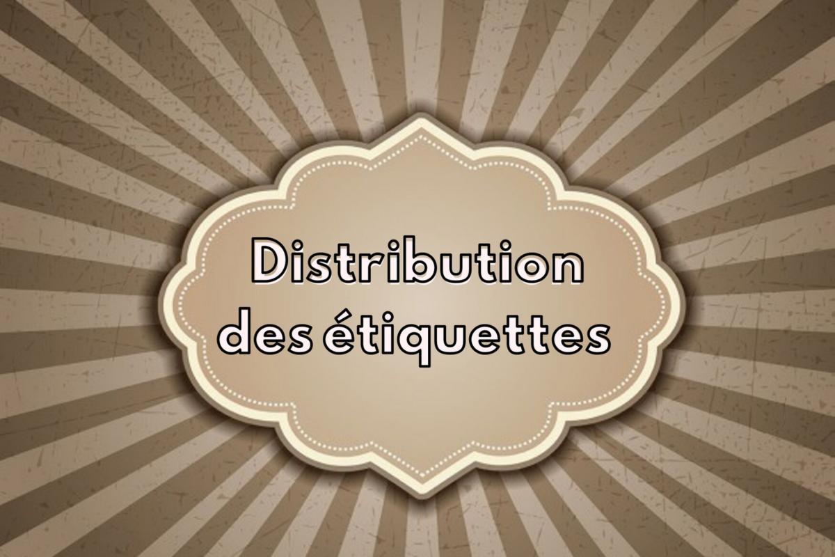 Distributions étiquettes S2 – Amphis Revol, A1 et A4