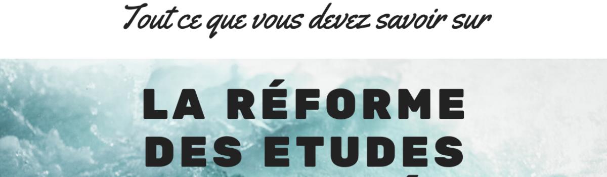 La réforme de l'entrée en études de santé