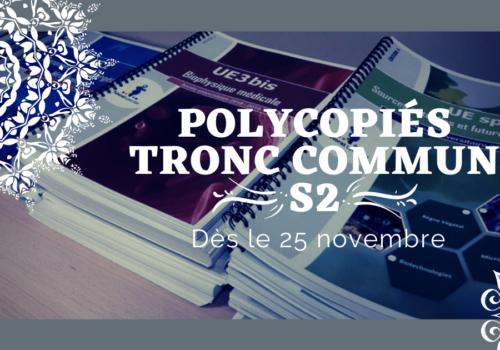 Commandes de polycopiés S2