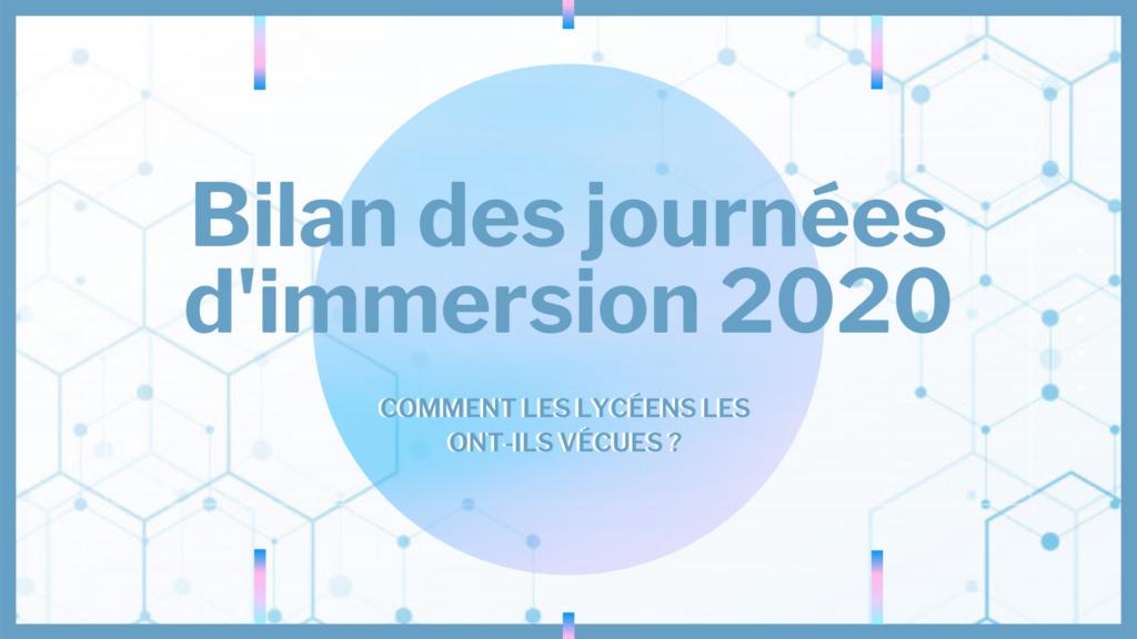 Bilan des journées d'immersion 2020-V5