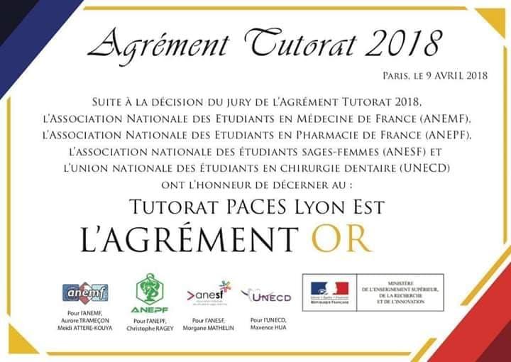 Agrément National OR 2018
