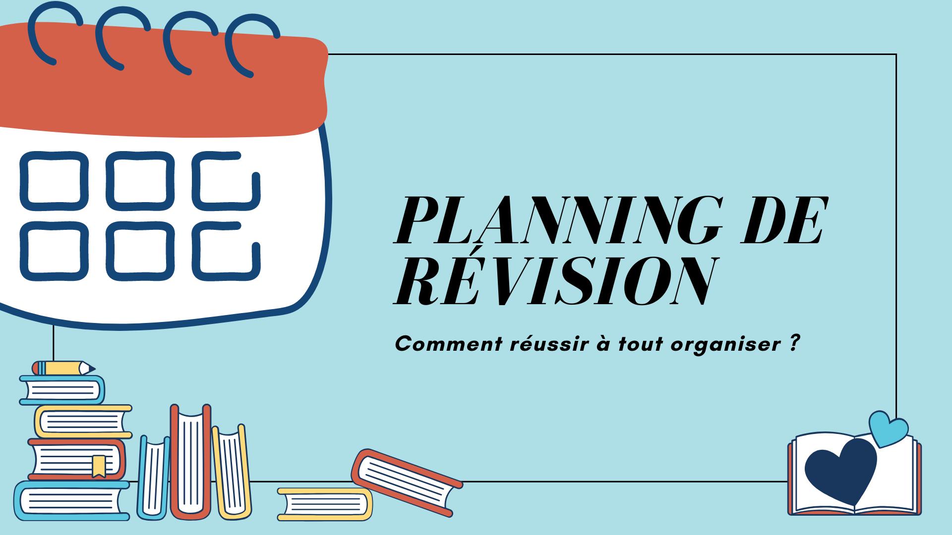 Faire un planning de révision