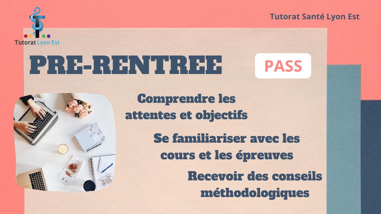 Pré-Rentrée PASS – Inscription